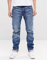 Узкие джинсы с потертостями G Star Arc 3D - Синий