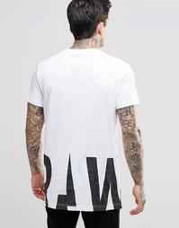 Удлиненная футболка G-Star Rimler - Белый