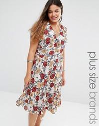 Чайное платье с цветочным принтом Alice & You - Мульти