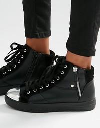 Высокие кроссовки на молнии ALDO - Черный