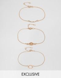 Набор из 3 браслетов Monki - Золотой
