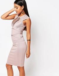 Бандажное платье со вставками Wow Couture - Dusky wineberry