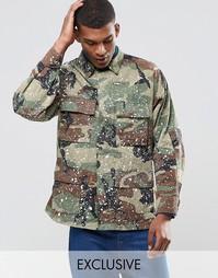 Куртка в стиле милитари с эффектом брызг краски Reclaimed Vintage