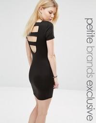 Облегающее платье с открытой спиной для миниатюрных Noisy May - Черный
