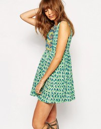 Платье Christophe Sauvat - Зеленый