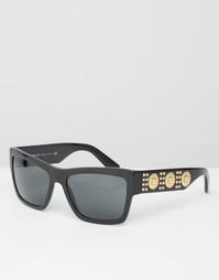 Квадратные солнцезащитные очки с повторяющимся логотипом-медузой на ду Versace