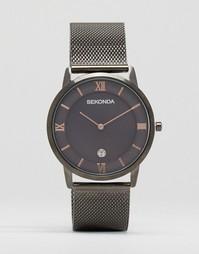 Серые часы с сетчатым браслетом Sekonda - Серый
