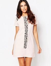 Цельнокройное платье с кружевной отделкой Hedonia Maddie - Телесный