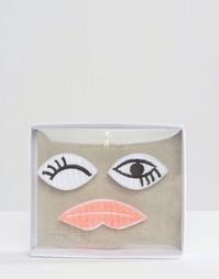 Набор брошей в виде глаз и губ Meri Meri - Мульти