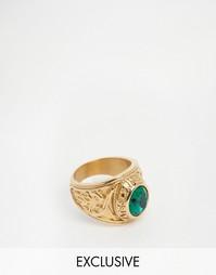 Золотистое кольцо с золотым камнем Reclaimed Vintage - Золотой