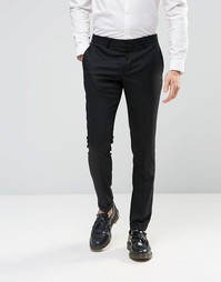 Зауженные брюки стретч с отворотами Selected Homme - Черный