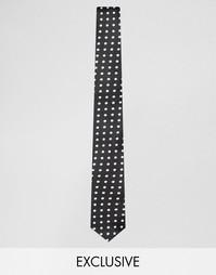Черный галстук в горошек Reclaimed Vintage - Черный