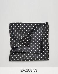 Черный платок для пиджака в горошек Reclaimed Vintage - Черный