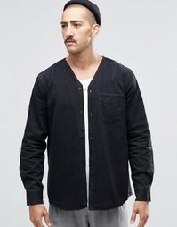 Черная джинсовая рубашка Weekday Tesla - Черный