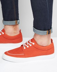 Оранжевые кеды из искусственной замши на шнурках ASOS - Оранжевый