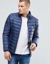 Стеганая нейлоновая куртка Blend - Темно-синий