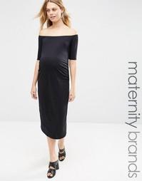 Облегающее платье для беременных Bluebelle Maternity - Черный