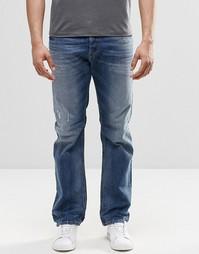Прямые джинсы с потертостями Diesel Waykee 853Y - Умеренный выбеленный