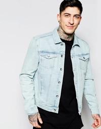 Выбеленная джинсовая куртка Minimum - Синий