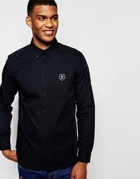Классическая рубашка с логотипом Love Moschino - Черный