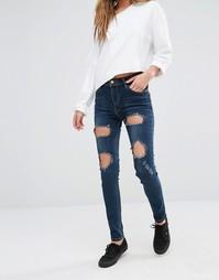Рваные джинсы скинни Good Vibes Bad Daze - Цвет