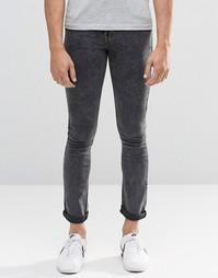 Супероблегающие мраморные джинсы Another Influence - Черный