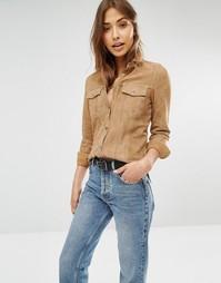 Замшевая рубашка с двумя карманами Muubaa Mason - Песок Аризоны