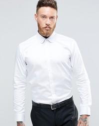 Рубашка слим с воротником с закругленными краями Ted Baker - Белый