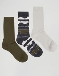 Набор из 3 пар носков с ацтекским принтом ASOS - Мульти