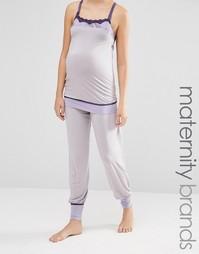 Пижамные штаны Cake Sugar Plum - Серый/сиреневый