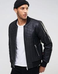 Стеганая куртка‑пилот из уплотненного полиуретана Bellfield - Черный