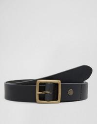 Узкий кожаный ремень Minimum - Черный