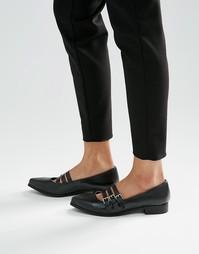 Туфли на плоской подошве London Rebel - Черный полиуретан