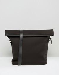 Портфель с откидным клапаном ASOS - Черный