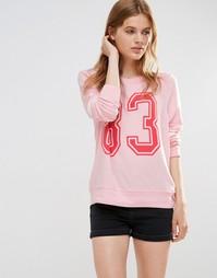 Свободный пляжный свитшот Wildfox '83 - Rosebud pink (розовый)