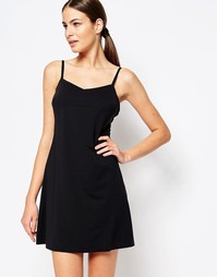 Платье-комбинация с глубоким вырезом сзади Spanx - Very black