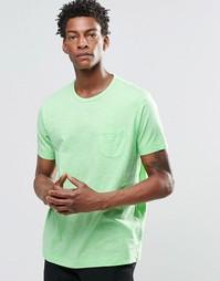 Футболка с карманом на груди YMC - Зеленый