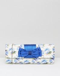 Клатч с цветочным принтом Lotus - Синий цветочный