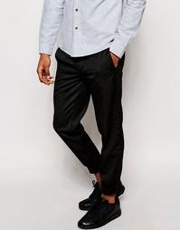 Спортивные брюки слим строгого кроя ASOS - Черный