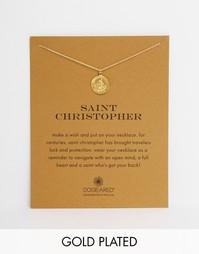 Позолоченное ожерелье с подвеской Святой Христофор Dogeared - Золотой