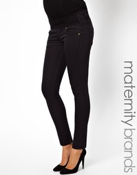 Зауженные эластичные джинсы черного оттенка Isabella Oliver