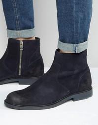 Замшевые ботинки на молнии Boss Orange Cultroot - Темно-синий