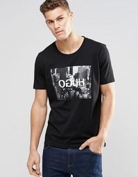 Черная футболка с принтом OGUH HUGO by Hugo Boss - Черный