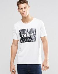 Белая футболка с принтом HUGO HUGO by Hugo Boss - Белый