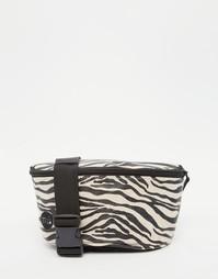 Парусиновая сумка-пояс с принтом зебры Mi-Pac