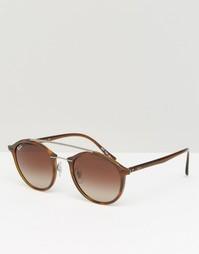 Круглые солнцезащитные очки Ray-Ban 0RB4266 - Коричневый
