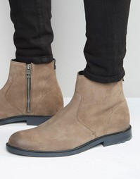 Замшевые ботинки на молнии Boss Orange Cultroot - Бежевый