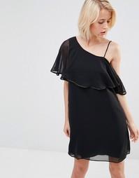Черное платье с рукавом-бабочка Lavand - Черный