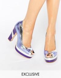 Лиловые туфли на каблуке с открытым носом Terry de Havilland Luna