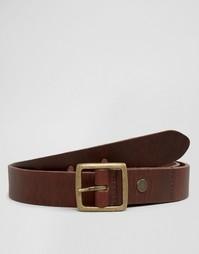 Узкий кожаный ремень Minimum - Коричневый
